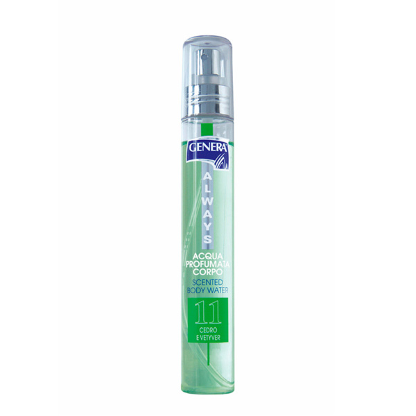 2812311 GENERA Acqua profumata corpo nr. 11 – Verde – Cedro e Vetyver 75 ml