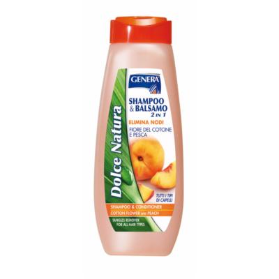 GENERA Shampoo & Balsamo Fiore del Cotone e Pesca 500 ml