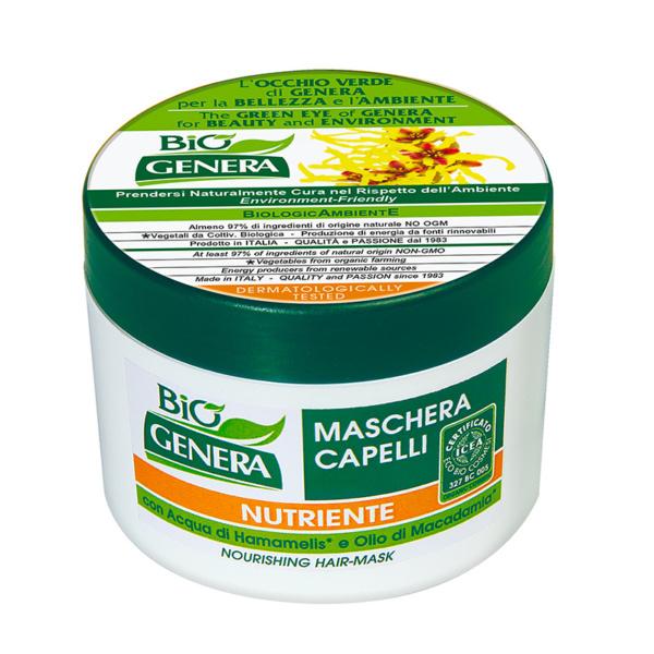 GENERA BIO' Maschera Capelli con Acqua di Hamamelis e Olio di Macadamia 250 ml