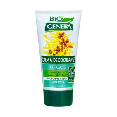 GENERA BIO' Crema Deodorante con Acqua di Hamamelis e Tiglio 50 ml